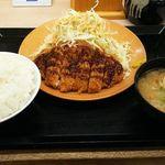 とんかつ かつや - ロースカツ定食(ライス大盛り)