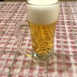 天然居 - 生ビール