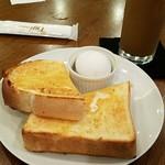 ダイニング・バル グラード - モーニングAセット(トーストとゆで卵)ドリンク注文で無料
