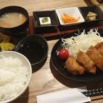 66459594 - 米愛豚のロースカツ 600円、定食+300円
