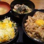 伝説のすた丼屋 - すた丼+つけ麺セット