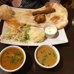 アロマズ オブ インディア - Bランチ・ダール豆とたまごカレー・シュリンプダムプク