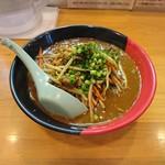 麺場 鶏源 - 2017年4月 鶏白湯 スパイシーカレー麺 とろみ 850円