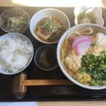 手打ちうどん 西村 - 料理写真:卵とじうどんセット