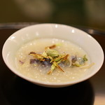 麻布 幸村 - 鳥貝に蛤のジュレ、蕗の薹