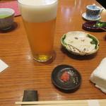 沙伽羅 - 生ビール・お通し