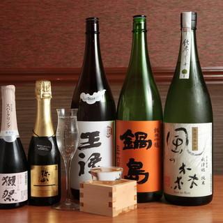 コース飲み放題日本酒5種類