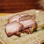 炭火割烹 蔓ききょう - 滋賀産猪の自家製ベーコン