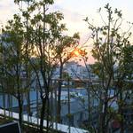 カフェラントマン - テラスから見る夕陽