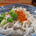 鎌倉釜飯 かまかま - しらすおろしアップ