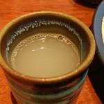 神通町 田村 - そば湯。