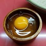 シュクリア - 生玉子は別皿