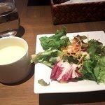 ハーバーカフェオールデイダイニング - カップスープ・サラダ