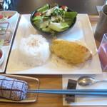 ビストロ藏の灯 - 魚御膳(紅ズワイガニとホタテのカダイフ包み) ¥1580