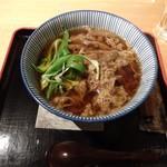 為治郎 - 肉蕎麦。美味しいけどお値段もそれなり・・