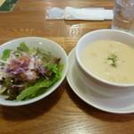 キッチンTanto - セットのサラダ&スープ
