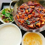 66476941 - 重慶式麻婆豆腐セット!