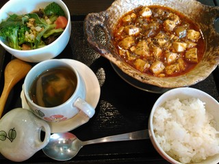 せろりや - 麻辣豆腐(薬膳スープに変更)