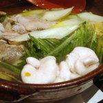 Iroriryouritonihonshusurofudohakobune - 白子入り鱈ちり鍋