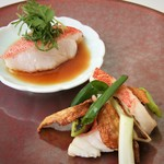 海鮮名菜 香宮 - 料理写真:東星ハタの蒸し物と葱生姜炒め