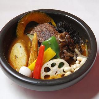 北海道白老牛のハンバーグスープカリー