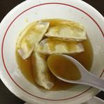 66483221 - 水餃子に味付けですd(^_^o)