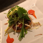 66484475 - 鰹のタタキ風サラダ仕立。食感や味が絶妙!本当に美味でした(^^)!