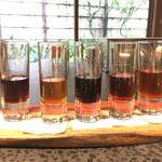 イチリン ハナレ - 紹興酒のデギュスタシオン5種類
