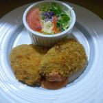 ホットワン 峠のごはんやさん - コロッケ定食¥600