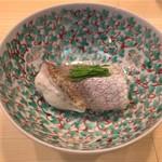 のど黒の蒸し寿司