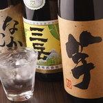 串焼き 和 - 焼酎のラインナップは負けません。飲み放題でもかなりの焼酎が!