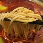 天然居 - カンスイ不使用の白い麺