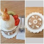 うさカフェ しあわせ うさぎ - シトラスうさ♡パフェ ランチ+500円