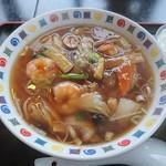 66492176 - 五目あんかけ麺(800円)半チャーハンセット(+100円)