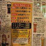 ビアカフェあくら - 今月のビール