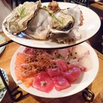 66495822 - 名物 海の幸のカルパッチョ 日替わり鮮魚6点盛り ¥980