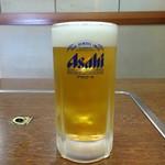 とみや - 生ビール(500円)