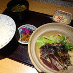 司 - 鰹たたき定食(1,300円)
