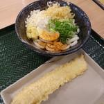 はなまるうどん - 料理写真:ぶっかけ(小)(300円)といか天(110円)