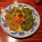 ネグラ(妄想インドカレー) - 葉たまねぎとレンズ豆のダル、菜の花としらすのカレー