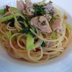 665214 - 地鶏と青菜のペペロンチーノ