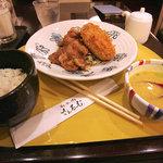 さんるーむ - 平田牧場の豚の生姜焼きと黒豆コロッケ定食。1240円。