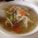 かたの - 野菜めん(塩);スープで煮込んだちょいクタな炒め野菜が載ったレトロ系(^^)b @2017/05/03