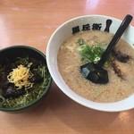 九州ラーメン 黒兵衛 - 焼豚丼、塩とんこつセット