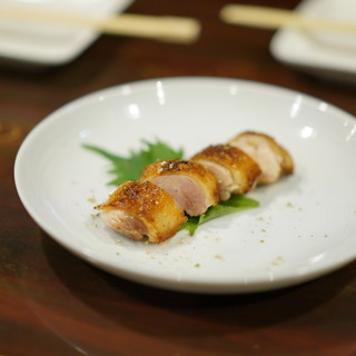 鳥長 - 料理写真:胸肉のたたき・・