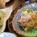 魚呑 - 何か魚の黄身和え?美味し