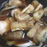 田舎打ち 麺蔵 - きのこ汁①