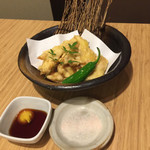 軍鶏専門個室 東京しゃ門 - しゃも鶏天 1,058円