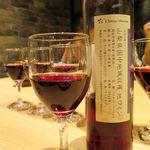 治兵衛 - 山梨県国中地域収穫地ワイン・マスカット・ベーリーA 500mlボトルでの提供が嬉しい。