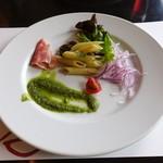 66508462 - 前菜  生ハムとペンネの冷製サラダ